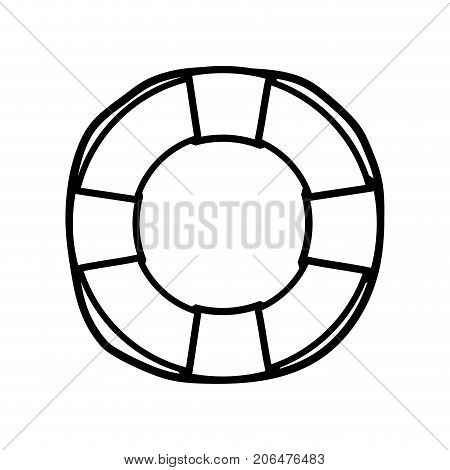 line life buoy object to security emergency vector illustration