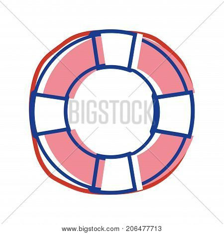 life buoy object to security emergency vector illustration