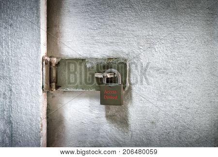 An Old Locked Padlock to Deny Access