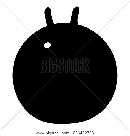 Fitness ball icon. Simple illustration of fitness ball vector icon for web