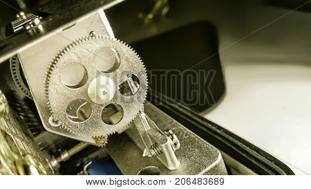 Dissected Electric Meter with Mechanical Gears Exposed