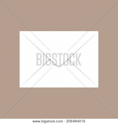 Back c6 envelope mockup. Realistic illustration of back c6 envelope vector mockup for web design