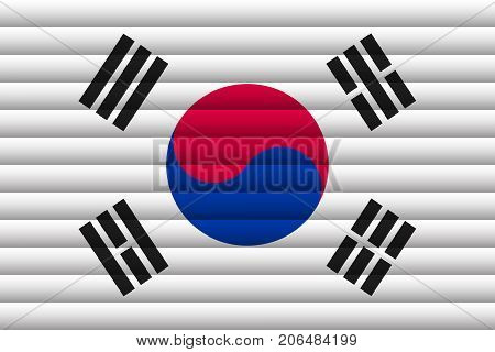 National Flag of South Korea. For Independence Day. Vector Illustration.