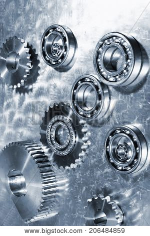 ball-bearings and gears, titanium and steel parts engineering