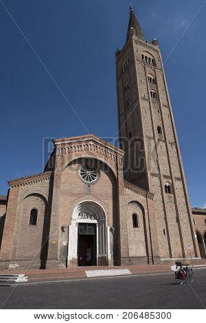 Forli (Emilia Romagna Italy): the church of San Mercuriale in Aurelio Saffi square