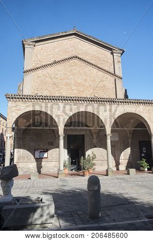 Imola (Bologna Emilia Romagna Italy): facade of the Santa Maria dei Servi church