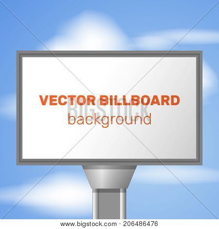Street advertisement background big white template for advertising and red big headline vector illustration