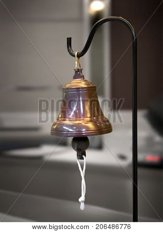 A Vintage Bell in Service at a Concierge