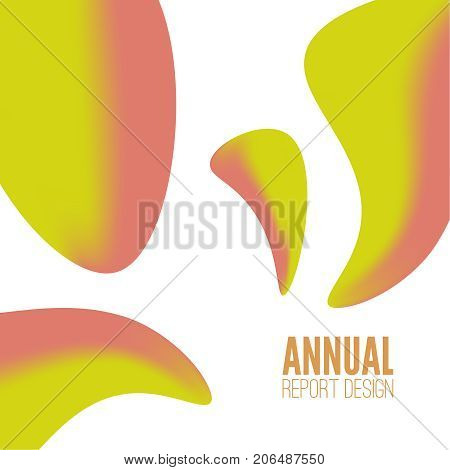Trendy abstract background with fluid colors shape. Modish vector liquid lava illustration.