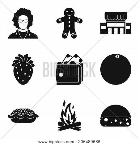 Bench bakery icons set. Simple set of 9 bench bakery vector icons for web isolated on white background