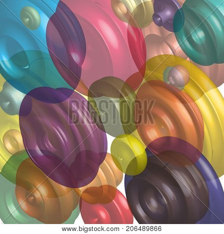 Abstract background graphic geometric three-dimensional shapes vector graphics