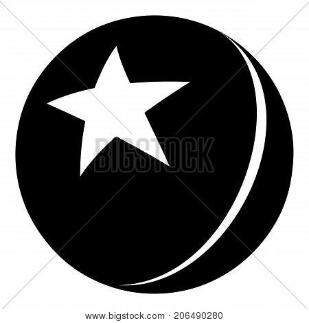 Glossy star ball icon. Simple illustration of glossy star ball vector icon for web