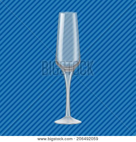 Flute glass concept background. Realistic illustration of flute glass vector concept background for web design