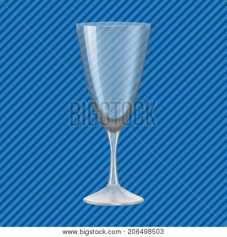 Vodka glass concept background. Realistic illustration of vodka glass vector concept background for web design