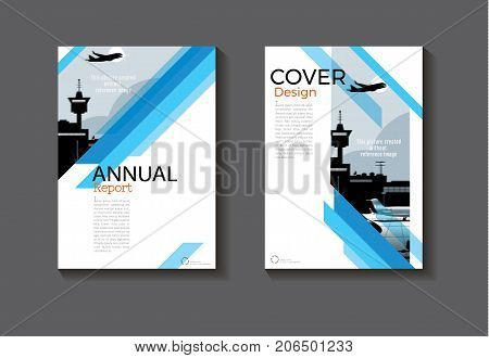 blue design book cover modern cover abstract Brochure cover templateannual report magazine and flyer layout Vector a4