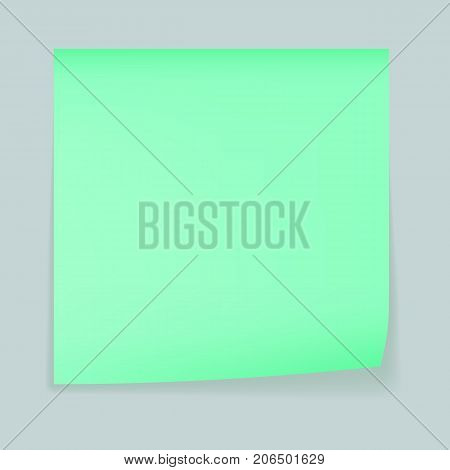 Green memo stick concept background. Realistic illustration of green memo stick vector concept background for web design