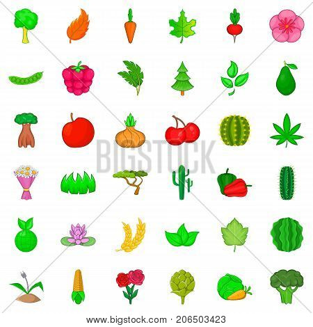 Environment icons set. Cartoon style of 36 environment vector icons for web isolated on white background