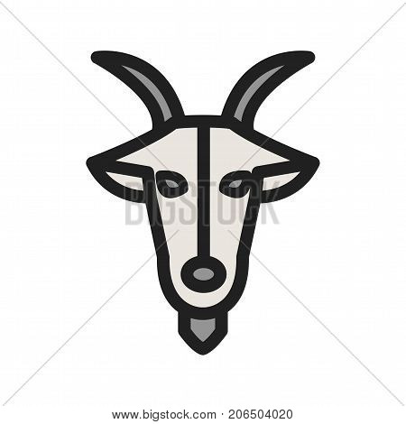 Capricorn, sign, zodiac icon vector image. Can also be used for Zodiac. Suitable for use on web apps, mobile apps and print media.