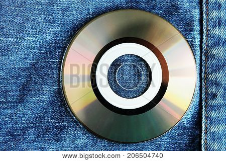 White Compact Disc Within Pocket
