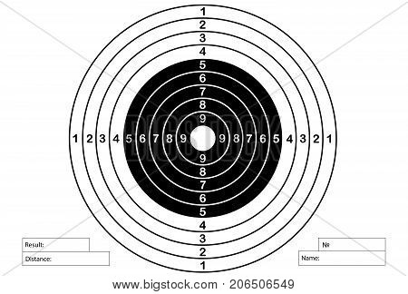 Vector target for rifle and archery classical