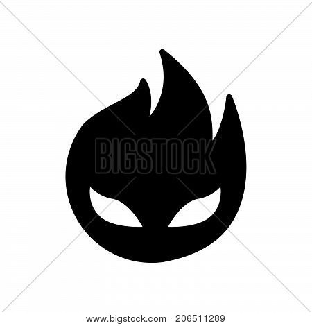 Hellfire monster icon iconic symbol on white background. For Halloween concept- Vector Iconic Design.