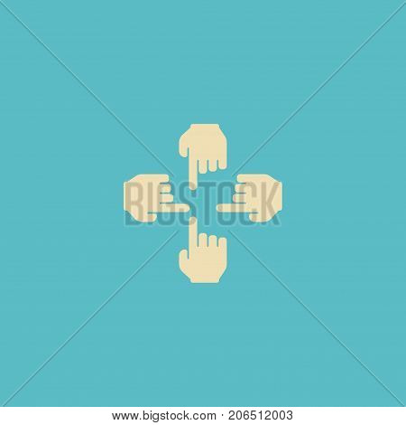 Flat Icon Multitouch Element. Vector Illustration Of Flat Icon Sensory Isolated On Clean Background