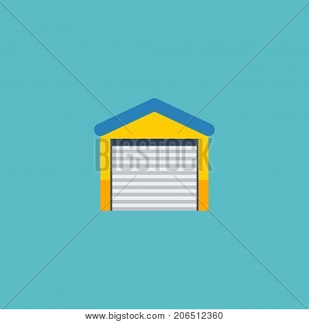 Flat Icon Garage Element. Vector Illustration Of Flat Icon Depot Isolated On Clean Background