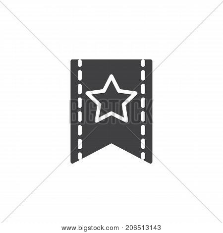 Favorite icon vector, filled flat sign, solid pictogram isolated on white. Symbol, logo illustration.