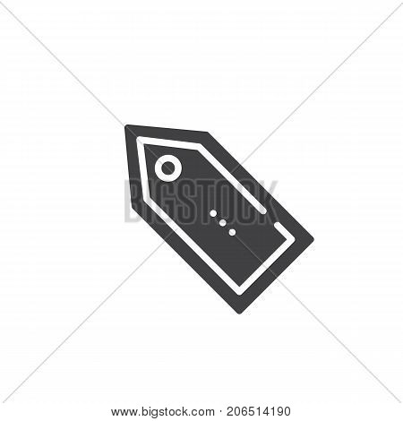 Tag label icon vector, filled flat sign, solid pictogram isolated on white. Symbol, logo illustration.