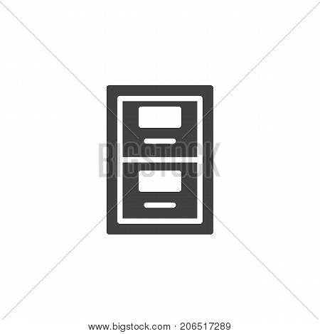 Archive box icon vector, filled flat sign, solid pictogram isolated on white. Symbol, logo illustration.