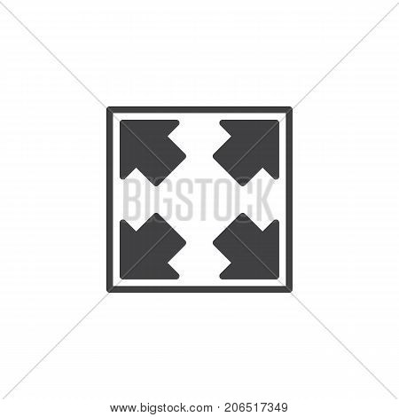 Resize button icon vector, filled flat sign, solid pictogram isolated on white. Symbol, logo illustration.