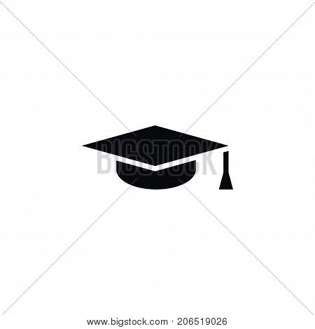 Mortar Board Vector Element Can Be Used For Graduation, Cap, Hat Design Concept.  Isolated Graduation Cap Icon.