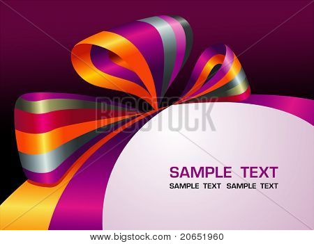 Bright background with a bow