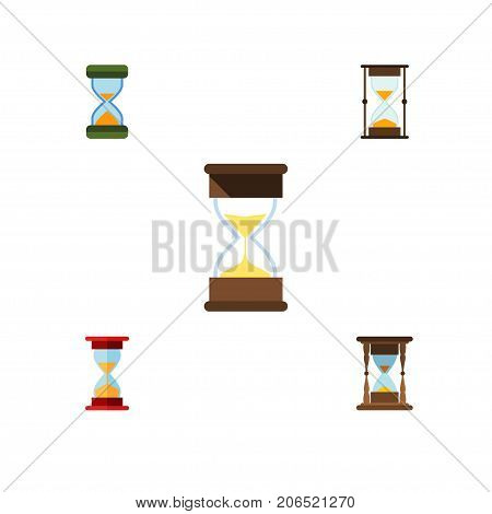 Flat Icon Sandglass Set Of Minute Measuring, Measurement, Loading And Other Vector Objects