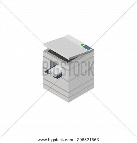 Scanner Vector Element Can Be Used For Photocopier, Scanner, Printer Design Concept.  Isolated Photocopier Isometric.