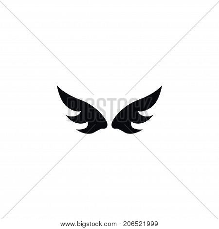 Insignia Vector Element Can Be Used For Freedom, Angel, Wings Design Concept.  Isolated Angel Icon.