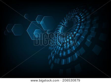 vector digital technology concept abstract background. futuristic technology background. Illustration vector