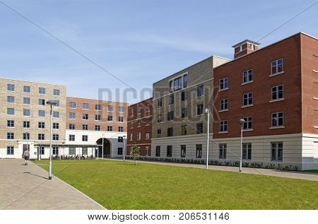 Swansea, UK: June 17, 2017: The Swansea Bay Campus is located right on the beach on the eastern approach to Swansea, and is the home to the College of Engineering. The students accommodation buildings