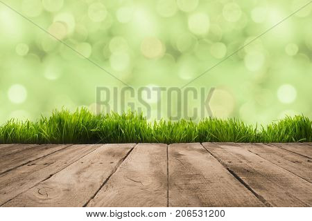 Wooden Planks And Sward