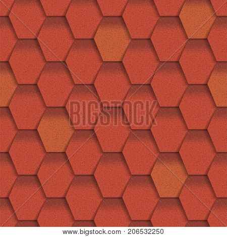 Roof tiles of classic texture and detail house seamless pattern material vector illustration. Exterior construction architecture pattern background repeat structure.