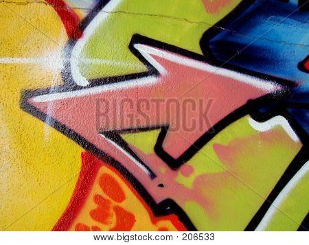 Pink Graffiti Arrow
