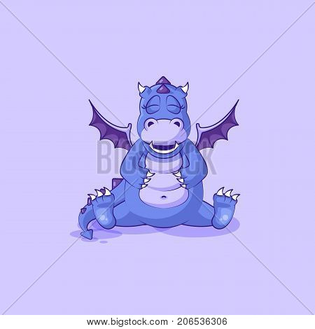 Vector Stock Illustration isolated Emoji character cartoon dragon dinosaur happy sticker emoticon
