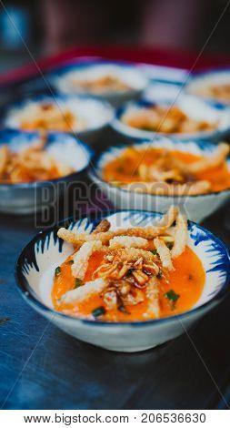 Vietnamese Street Food - bloating fern-shaped cake