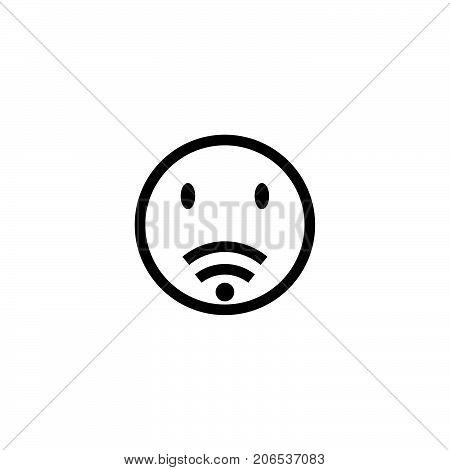 sad wifi logo design, bad wifi logo