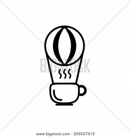 coffe ballon logo design, coffe cup logo design