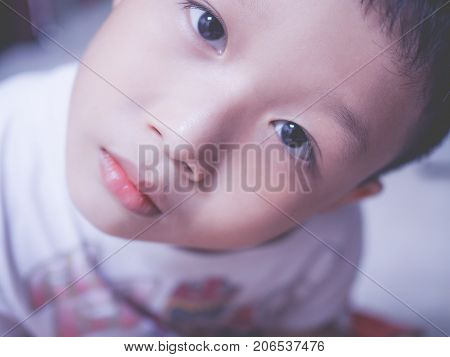 Portrait Photography of Happy Asia Baby Boy