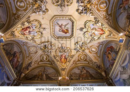 Interiors Of Palazzo Pitti, Florence, Italy