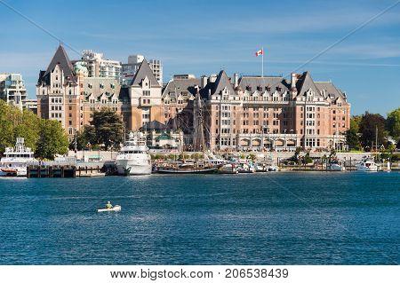 Victoria British Columbia Canada - 11 September 2017: Fairmont Empress Hotel in Victoria