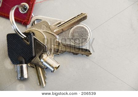 Key Ring With Bunch Of Keys