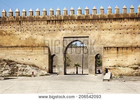 Old Islamic Wal In Lmedina Of Fez